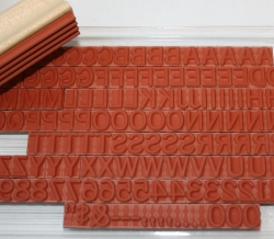 rubber ribbed type pack mark