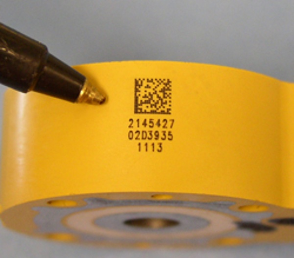 Direct part mark 2D Datamatrix marks with fiber laser marking systems