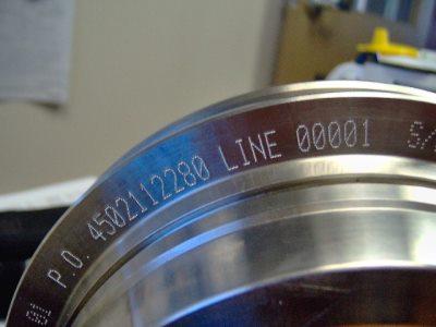 dot peen marking curved object