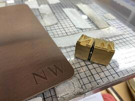 brass printers type for leather