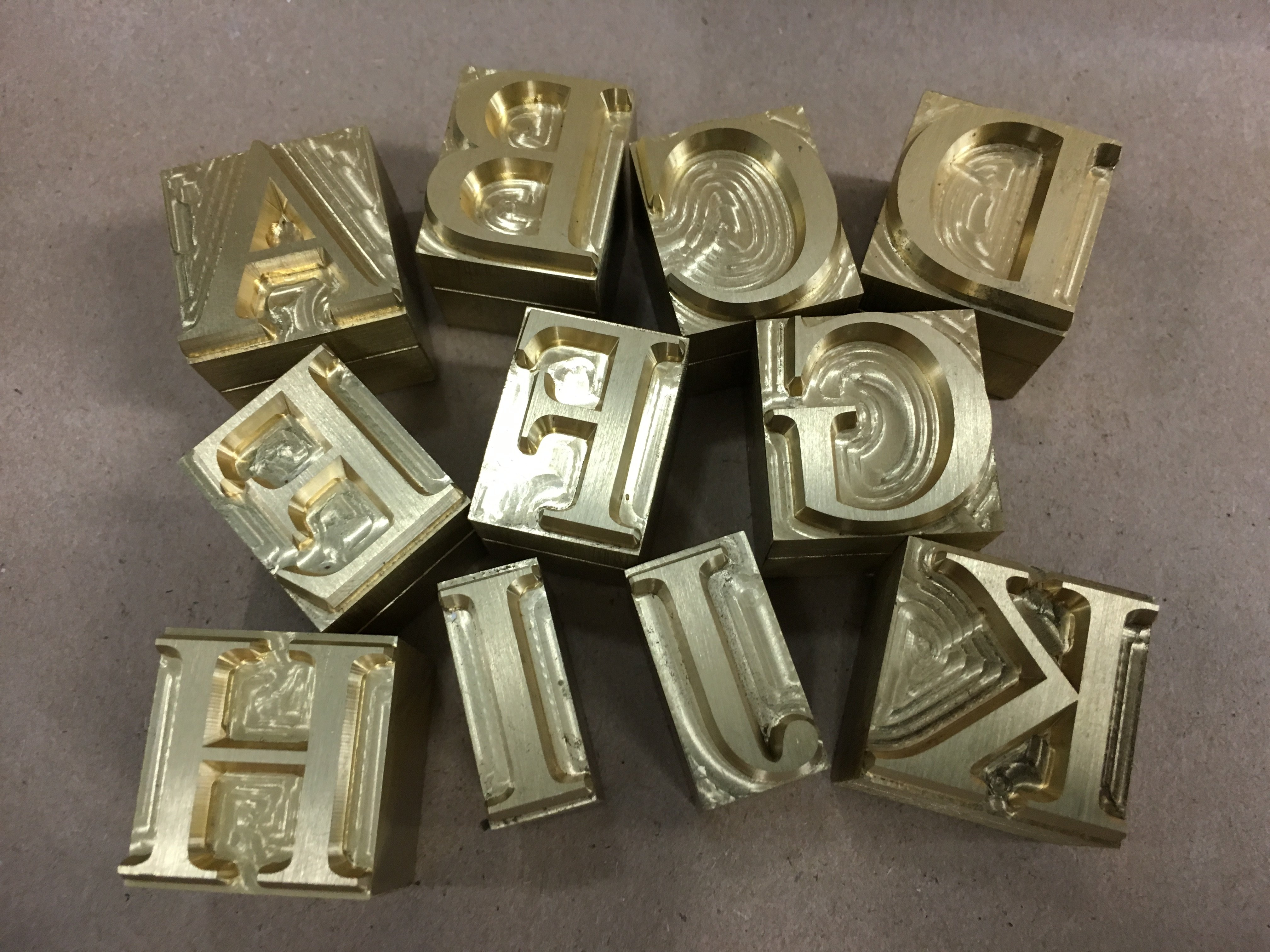 brass type assorted