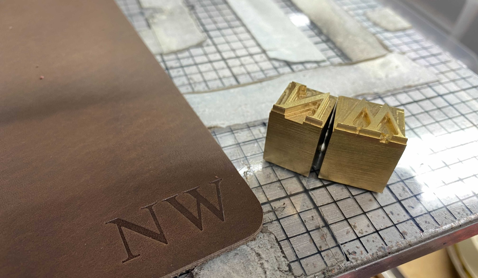 Personalizing Leather Goods with Brass Printers' Type